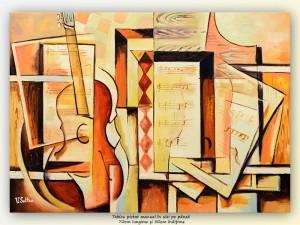 Poza Portativ - 70x50cm pictura cubista
