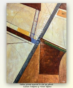 poza Geometrie - tablou abstract GIGANT 120x90cm, ulei pe panza Superb!