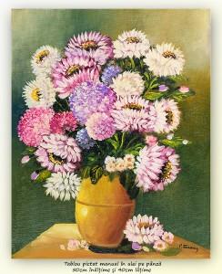 poza Bucurie florala (20) - pictura ulei pe panza 50x40cm, Superb@