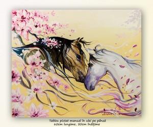 poza Prietenie - 60x50cm pictura cai ulei pe panza, Magnific!