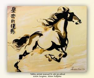 poza Asian horse (3) - 60x50cm pictura ulei pe panza, Magnific!