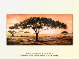 poza Peisaj african - 150x70cm ulei pe panza, Magistral!