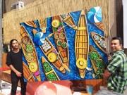 Galerie foto tablou pictat la comanda 150x100cm pentru restaurant asiatic in Bucuresti