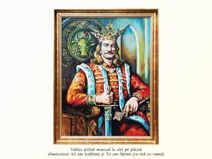poza Stefan cel Mare - pictura ulei pe panza 80x60cm, Magistral!
