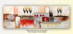 poza Tablou living, dormitor - Deco art (2) - 150x50cm ulei pe panza in relief, efect 3D