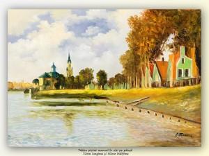poza Zaandam - ulei pe panza 70x50cm, reproducere Claude Monet
