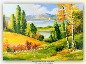 poza Oaza de liniste (3) - tablou peisaj 70x50cm, ulei pe panza, Magnific!