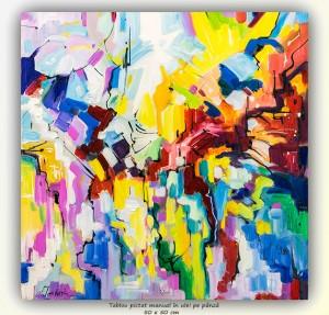 poza Compozitie abstracta - 50x50cm ulei pe panza, Modern!