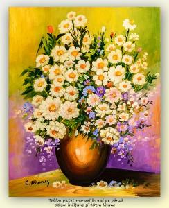 poza Bucurie florala (5) - pictura ulei pe panza 50x40cm, Superb@