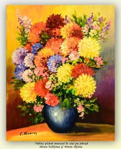 poza Bucurie florala (11) - pictura ulei pe panza 50x40cm, Superb@