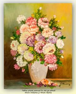poza Bucurie florala (22) - 50x40cm ulei pe panza, Superb@