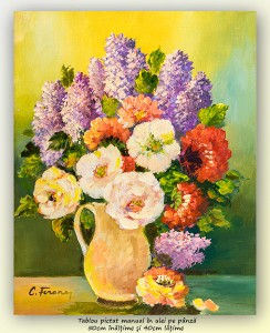 poza Bucurie florala (21) - 50x40cm ulei pe panza, Superb@