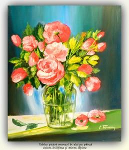 poza Florile mele (6) - 60x50cm pictura ulei pe panza, Magnific!