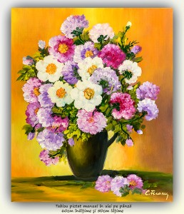 poza Florile mele (9) - 60x50cm pictura ulei pe panza, Magnific!