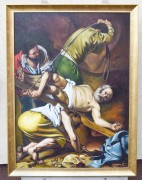 Crucificarea Sfantului Petru - pictura ulei pe panza 127x97cm, repro Caravaggio - La comanda