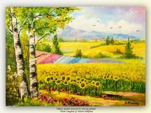 poza Meleaguri mioritice (5) - 70x50cm pictura ulei pe panza, Magnific!