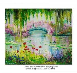poza Podul japonez (3) - 60x50cm pictura ulei pe panza, repro Claude Monet