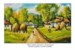 poza La casa bunicilor (1) - 100x60cm pictura in ulei pe panza, Spectaculos!