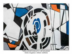 poza Geometrie (1) - 70x50cm tablou abstract ulei pe panza, Spectaculos!