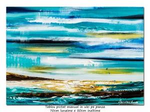 poza Calatorie in spatiu (5) - 70x50cm tablou abstract ulei pe panza, Spectaculos!