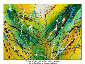 poza Vortex (9) - 70x50cm tablou abstract ulei pe panza, Spectaculos!