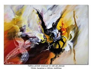 poza Vortex (10) - 70x50cm tablou abstract ulei pe panza, Spectaculos!