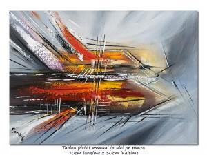poza Calatorie in spatiu (10) - 70x50cm tablou abstract ulei pe panza, Spectaculos!