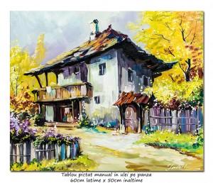 poza Casa boiereasca - 60x50cm tablou ulei pe panza, Superb!