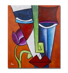 poza PRET BOMBA! Portret cubist (1) - tablou ulei pe panza 60x50cm