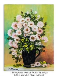 poza Florile mele (7) - 40x30cm pictura ulei pe panza, Magnific!