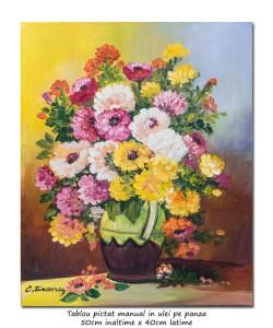 poza Bucurie florala (12) - pictura ulei pe panza 50x40cm, Superb@
