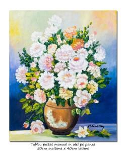 poza Bucurie florala (15) - pictura ulei pe panza 50x40cm, Superb@