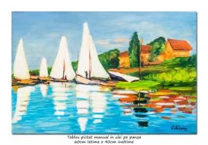 poza Regatta at Argenteuil  - 60x40cm, ulei pe panza, repro Claude Monet
