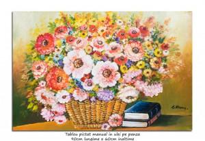 poza Tablou living - Poezie florala (2)  - 90x60cm ulei pe panza, Superb!
