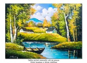 poza O zi minunata (3) - 70x50cm pictura peisaj ulei pe panza, Magnific