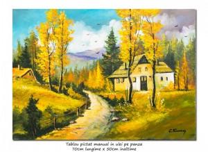 poza O zi minunata (7) - 70x50cm pictura peisaj ulei pe panza, Magnific