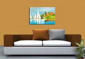 Poza acum tabloul expus pe perete (4)