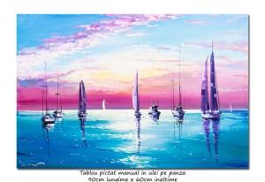 poza Calm - 90x60cm tablou peisaj marin ulei pe panza , Superb!