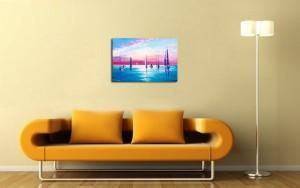 Poza avum tabloul expus pe perete (2)