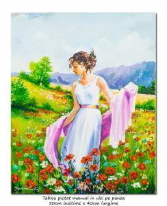 poza O zi minunata in natura - 50x40cm pictura ulei pe panza, Superb@