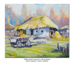 poza Casa taraneasca - 60x50cm ulei pe panza - Repro. N. Grigorescu