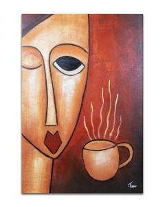 poza Cafe (1) - 90x60cm  tablou cubist ulei pe panza, superb!