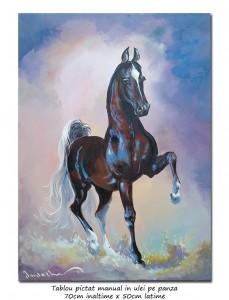 poza Arthur - 70x50cm pictura cal  ulei pe panza, Magistral!