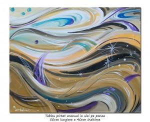 poza Galactic - 50x40cm pictura abstracta ulei pe panza, Senzatie!