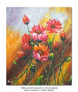 poza Aranjament floral modern in cutit (5) - 60x50cm ulei pe panza, Superb!