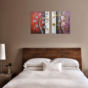 Poza acum tabloul expus pe perete