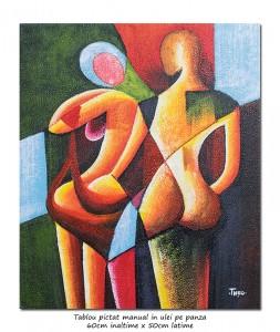 poza You and me (1) - 60x50cm tablou modern in ulei pe panza, superb!