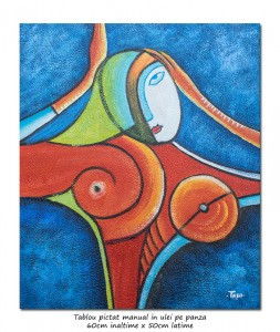 poza Another woman_s face (4) - tablou cubist ulei pe panza 60x50cm, superb!