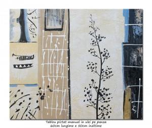 poza Decor japonez (1) - pictura moderna ulei pe panza 60x50cm, Superb@