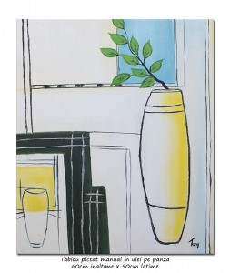 poza Design minimalist (2) - tablou modern ulei pe panza 60x50cm